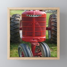 Red Farmall Tractor Framed Mini Art Print