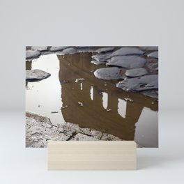 Coliseum reflection in a puddle - Rome, Italy Mini Art Print