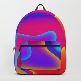 Abstract Wavy Shape Pattern Backpack