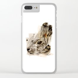 Hare Clear iPhone Case