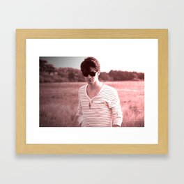 Pink Boy Framed Art Print