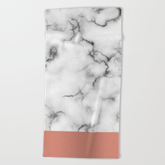 Marble & copper Beach Towel