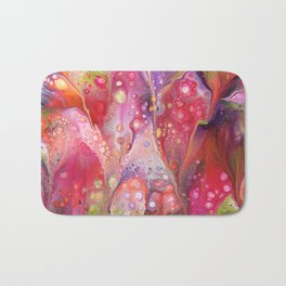 Pink Fizz Acrylic Abstract Painting Bath Mat