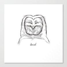 decaf Canvas Print