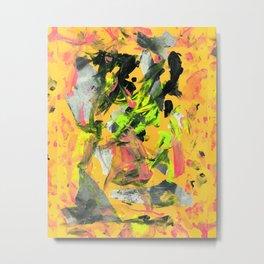 THRASHED! yellow Metal Print