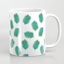 Turquoise leaves nature pattern Coffee Mug