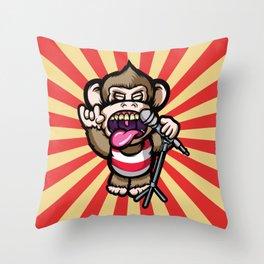 Ape Mic Throw Pillow