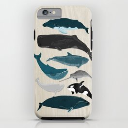 Whales - Pod of Whales Print by Andrea Lauren iPhone Case