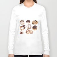 donuts Long Sleeve T-shirts featuring Donuts by heatherinasuitcase