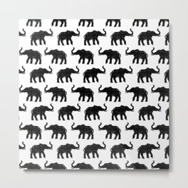 Elephants on Parade Metal Print