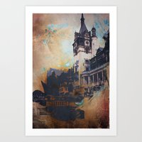 castlevania Art Prints featuring Castlevania by Esco