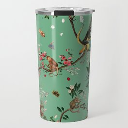 Monkey World Green Travel Mug