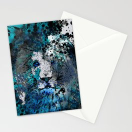 LION PRIDE ABSTRACT INK SPLASH PORTRAIT Stationery Cards