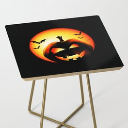 Smile Of Scary Pumpkin Side Table