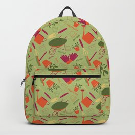 A Day in the Garden - Green Backpack