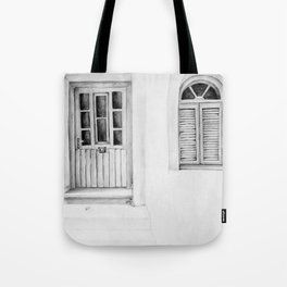 Greek Doorway Tote Bag
