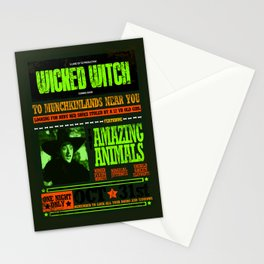 Wanted wicked witch poster Stationery Cards