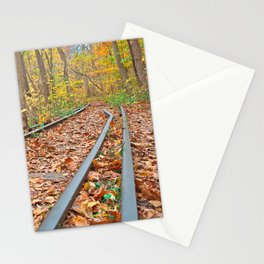 Abandoned Autumn Railroad Stationery Cards