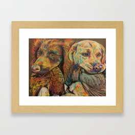 Gun dogs Framed Art Print