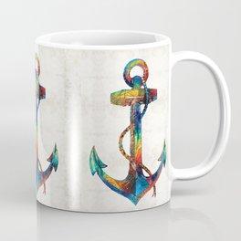 Nautical Anchor Art - Anchors Aweigh - By Sharon Cummings Coffee Mug
