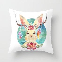 Majestic Jackalope Throw Pillow