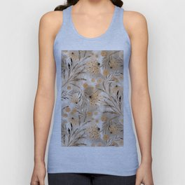 Beige floral pattern. Unisex Tank Top