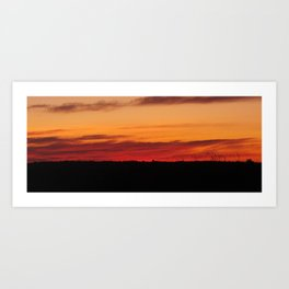 Field sunrise Art Print