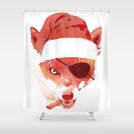Bad Santa Fox Shower Curtain