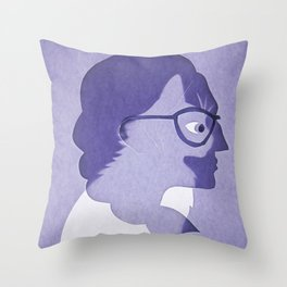 The cat inside Throw Pillow