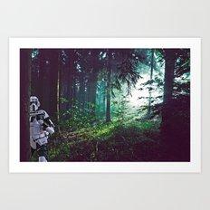 Trooper on Endor Art Print