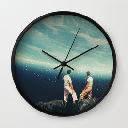 The Earth was crying and We were there Wall Clock