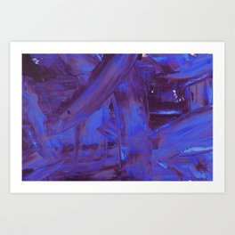 Blurple Mess Art Print
