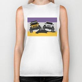 [JEEP COUPLE] yellow+white Biker Tank