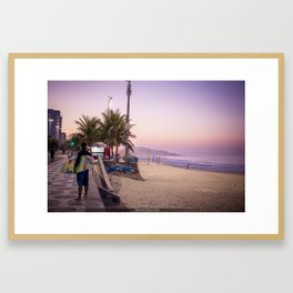 Beautiful sunrise in Brazil Framed Art Print