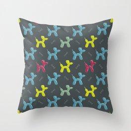 Dog balloon animal pattern Throw Pillow