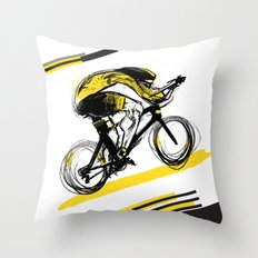 The Time Trial Throw Pillow