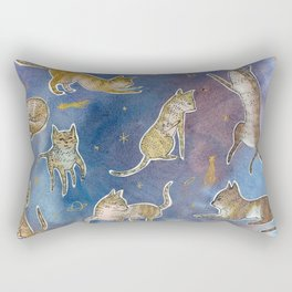 Space Kitties  Rectangular Pillow