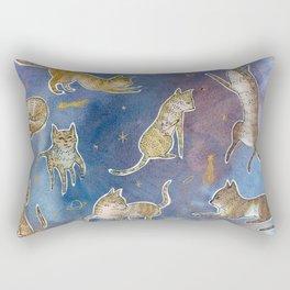 Space Kitties  Rectangular Pillow