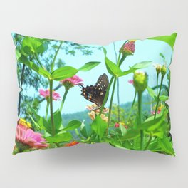 Butterfly with a View Pillow Sham