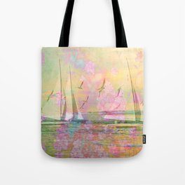 Sailboat Flyby Tote Bag