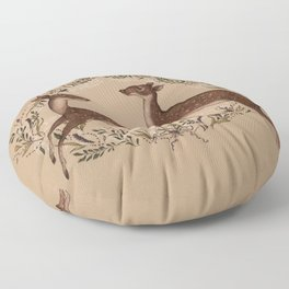 Jumping Deer Floor Pillow