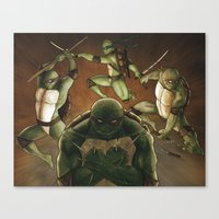 tmnt Canvas Prints featuring TMNT by Ryan Caskey