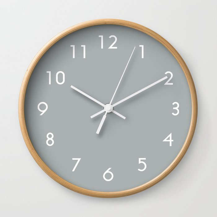 Paloma Grey Pastel Wall Clock