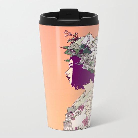Geisha Under the Sun Metal Travel Mug