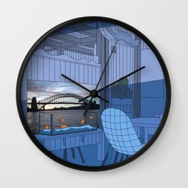 Sydney After Lunch Wall Clock