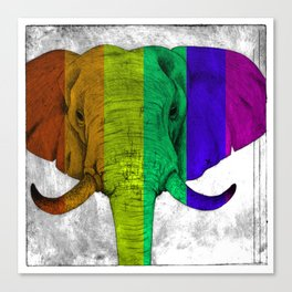 Tertiary Elephant Canvas Print