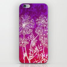 dandelions on purple and pink iPhone & iPod Skin