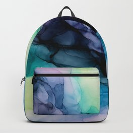 Sweet Pea Pastel Abstract Chaos | Calming Fluid Art Backpack