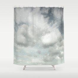 Snowing Winter Scene Illustration #decor #society6 Shower Curtain