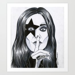 Ozzy - The Starchild Art Print
